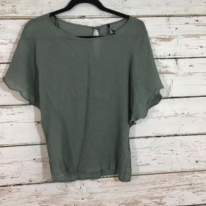 One Clothing Green Flowy Lightweight Top